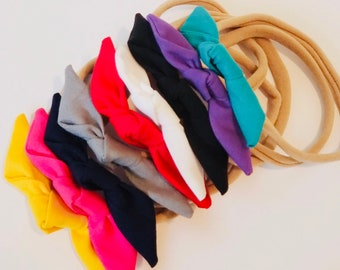 SOLID COLORS- Baby Tie Headbands