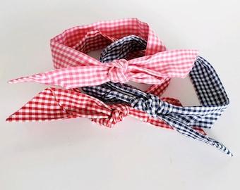 SUMMER GINGHAM Scarf Tie