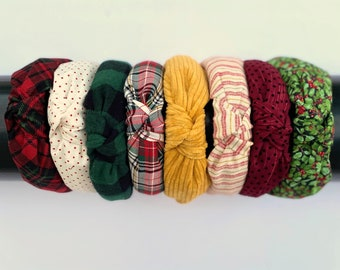 HOLIDAY KNOTTED HEADBANDS