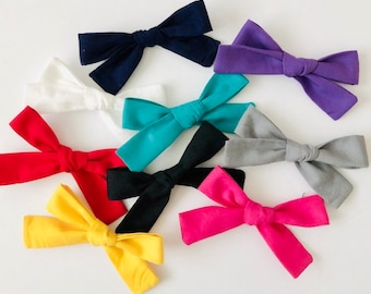 SOLID COLORS- Small Bows