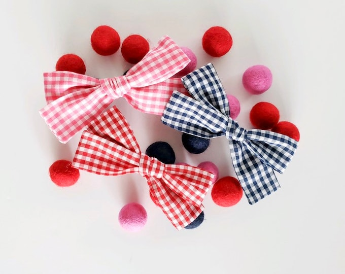 Featured listing image: SUMMER GINGHAM Large Bows