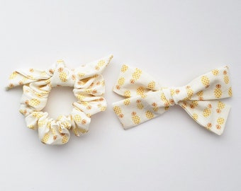 PINEAPPLE SCRUNCHIE &/or BOW