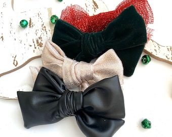 HOLIDAY TEXTURED Large Bows (Set of 2)