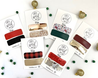 HOLIDAY Large Snap Clips