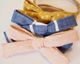 TEXTURED- Bow Headbands