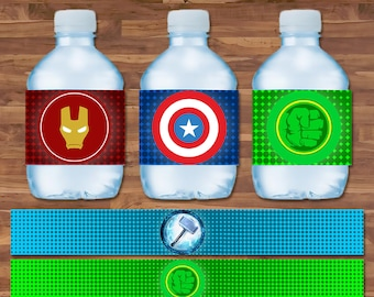Marvel, Iron Man Stark Industries Personalised White Add Name Water Bottle