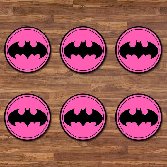 graphic about Batgirl Logo Printable referred to as Batgirl Cupcake Toppers - Batgirl Stickers - Black Red Symbol - Batgirl Birthday Celebration Printables - Batgirl 2 inch Spherical Stickers - 100716