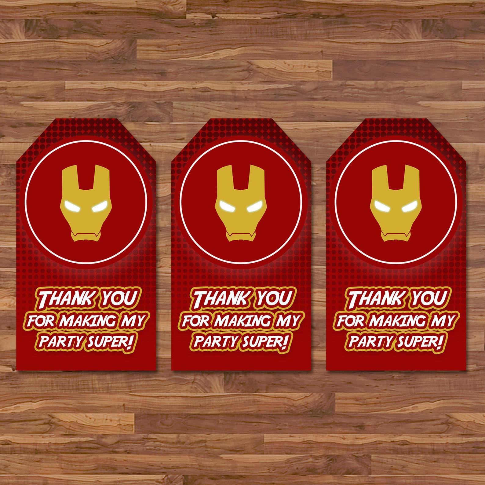 Printable Iron Man Favor Tags