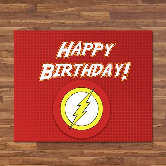 c406fca2daf The Flash Happy Birthday Sign Flash Birthday Banner Sign