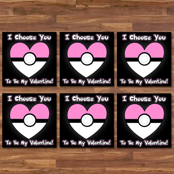 Pokemon Valentine's Day Cards Pink Pokeball - Pokemon School Valentines - Pokemon Party Printables - Pokemon Valentine's Day Cards - 100857