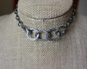 Pavé Diamond Chain Link Necklace