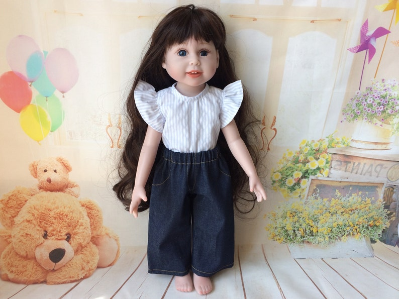 01a5b325d 18 inch doll clothes American Girl Doll jeans 18 inch doll