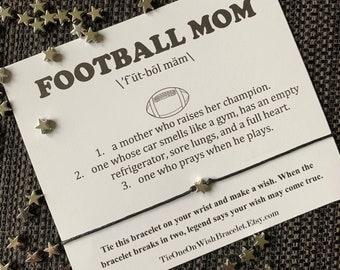 Football mom, team mom, mom of a football player, high school football, football coach gift, football team dinner, senior mom, parents night