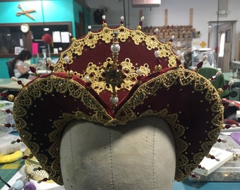 Renaissance French Hood Crowns-MTO ITEM!