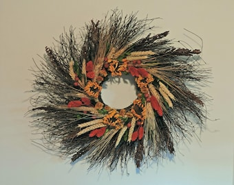 Sunflower Twig Wreath