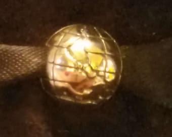 fd1e04790 Authentic Genuine S925 ALE Pandora Sterling Silver Globe Clip 791182 Charm  Bead