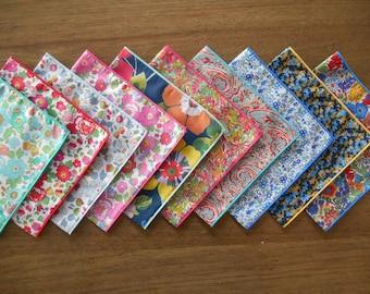 Liberty Handkerchief - Ladies Hankie - Betsy, Lockwood, Tessa, Margaret Annie, Babylon, Charles, Willow Rose - Pocket Square / Eco-friendly