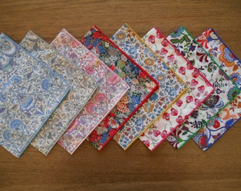 Liberty Handkerchief - Ladies Hankies - Lodden, Thorpe, D'anjo, Ros, Mabelle - Pocket Square - Australian Made / Eco-Friendly / Waste Free