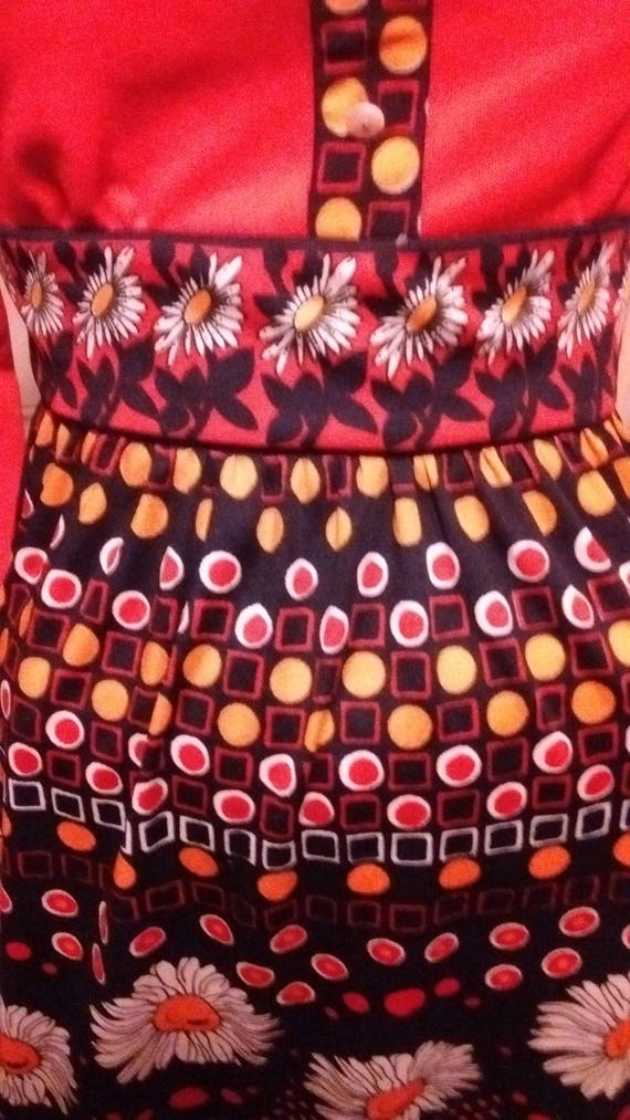 Rad 70s Psychedelic Polyester Dress - image 4