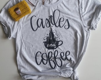 Castle and Coffee Tee {Fall Colors}[Heather Maroon/Ash]