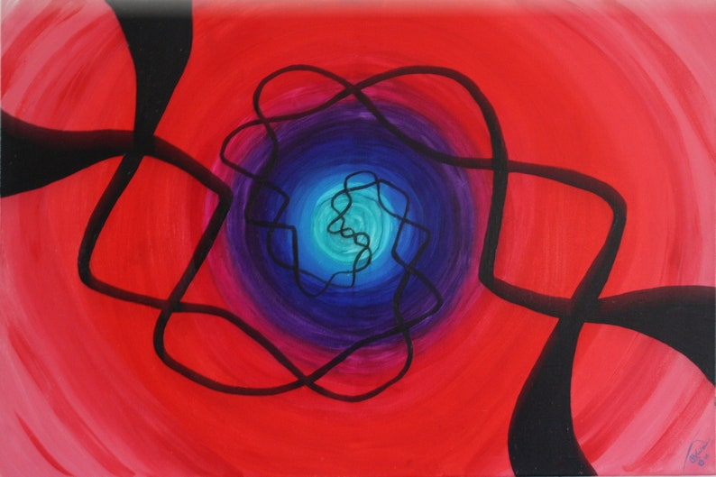 Genesis Seven Abstract Living Room Acrylic Painting