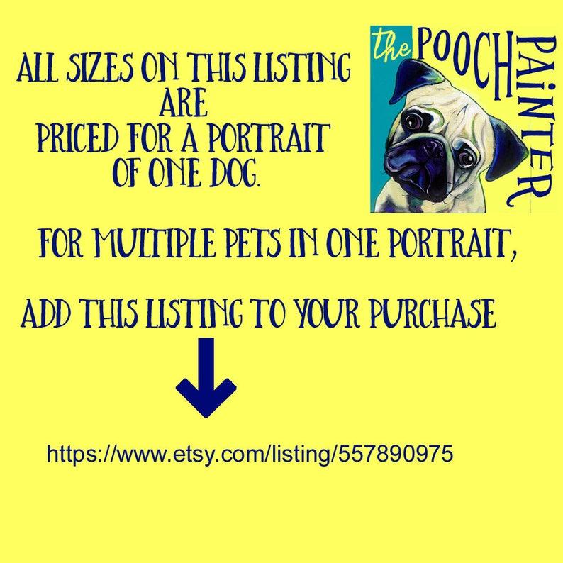 Pet Painting Photo to Painting Custom Pet Portrait Custom Dog Painting from Photo Pet Portrait