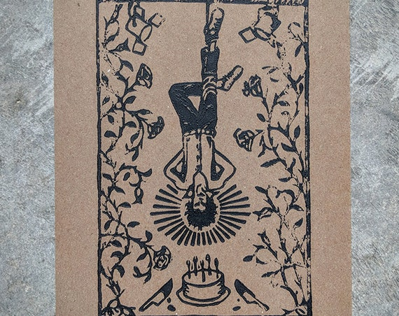 Nick Cave as the Hanged Man print