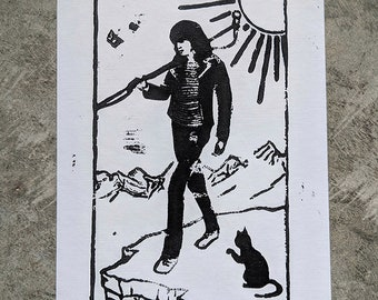 Joey Ramone as the Fool print
