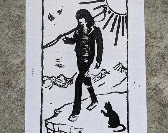 Joey Ramone as the Fool print
