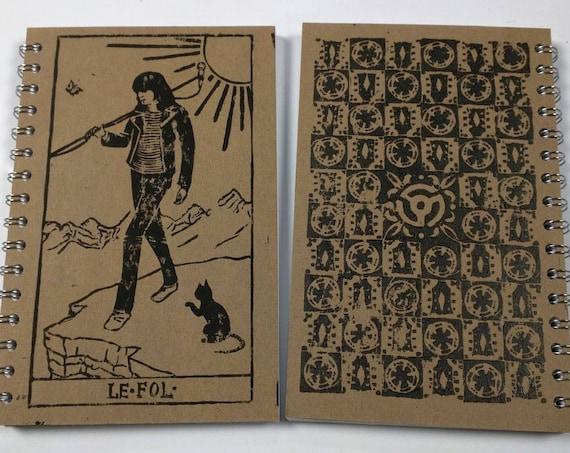 Joey Ramone as The Fool Rock'n Roll Tarot Notebook