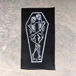 True Love, Creepy Cute Skeletons in Coffin Shoulder Patch
