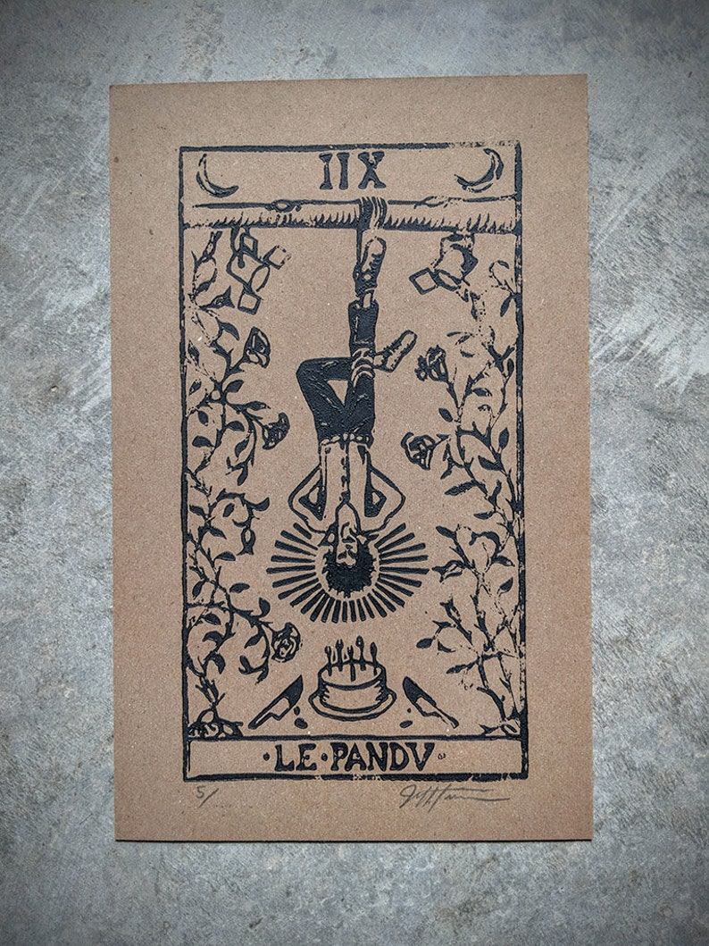 Nick Cave as the Hanged Man print image 0