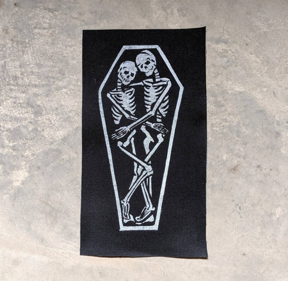 True Love, Creepy Cute Skeletons in Coffin Shoulder Patch