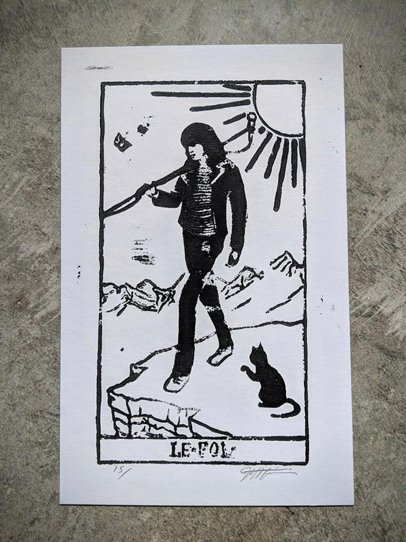 Joey Ramone as the Fool print image 0