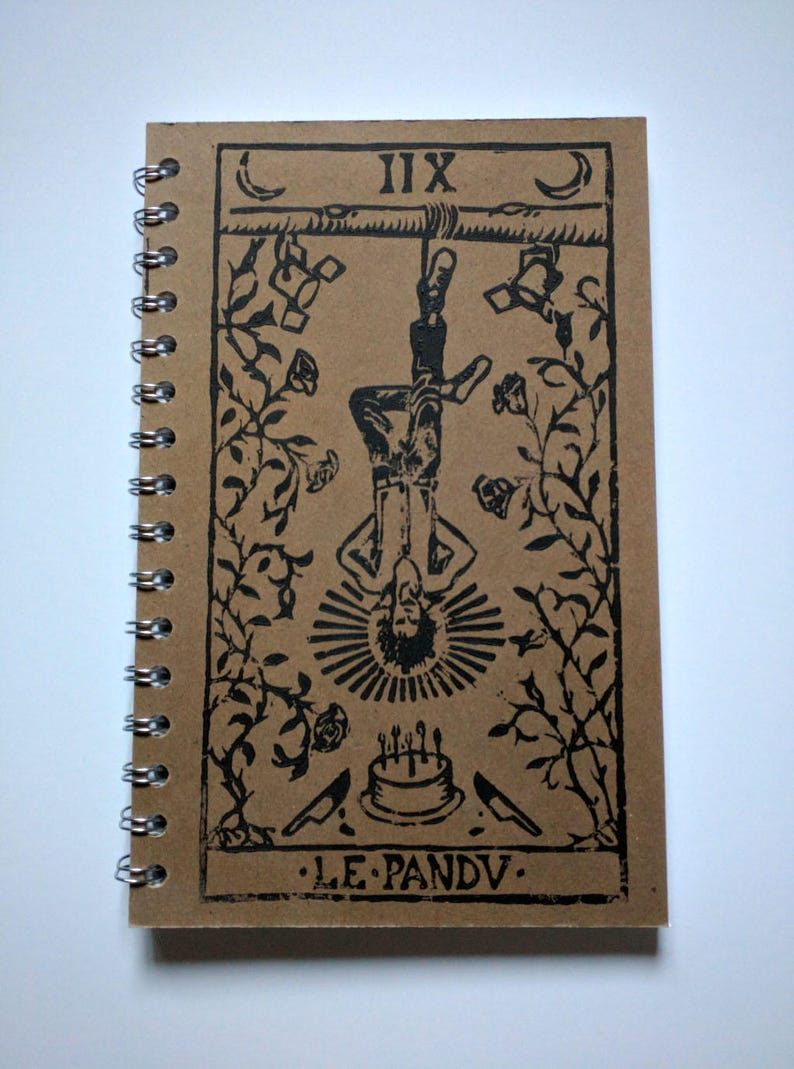 Nick Cave as The Hanged Man Rock'n Roll Tarot Notebook image 0