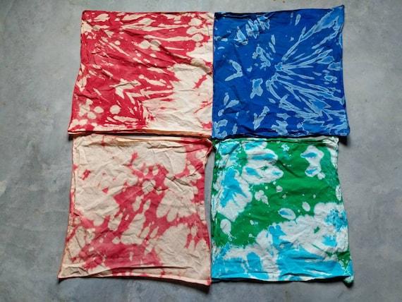 Festival Tie-Dye Bandana, Bleach Process