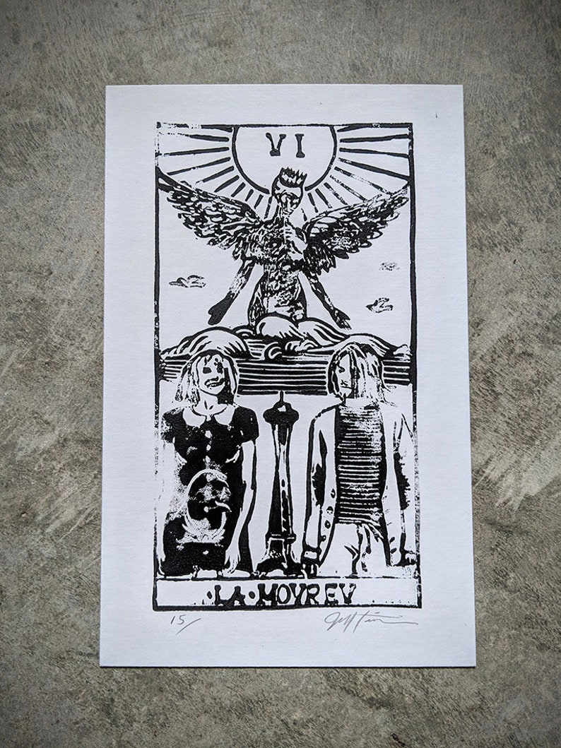 Kurt and Courtney as the Lovers print image 0