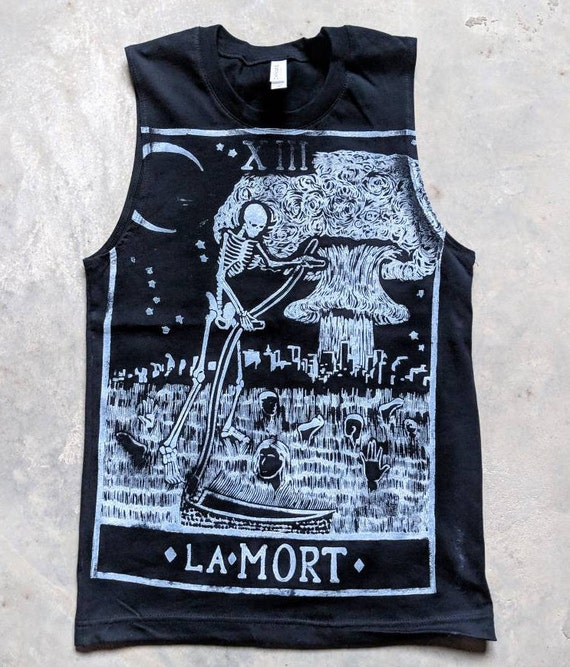 Death Card Muscle Tee