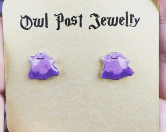 Pokemon Earrings Stainless Steel Studs Ditto