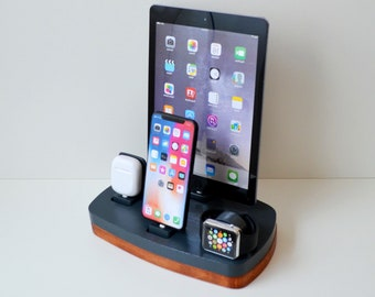 Multi Device Charging Station Organizer Apple Watch Airpods iphone Docking Station iDOQQ QUATRO