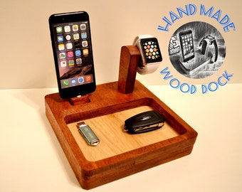 iphone charging station docking station gift Apple Watch Stand Station stand IDOQQ Ultimate 2 (Mahogany) station, iphone x iphone dock