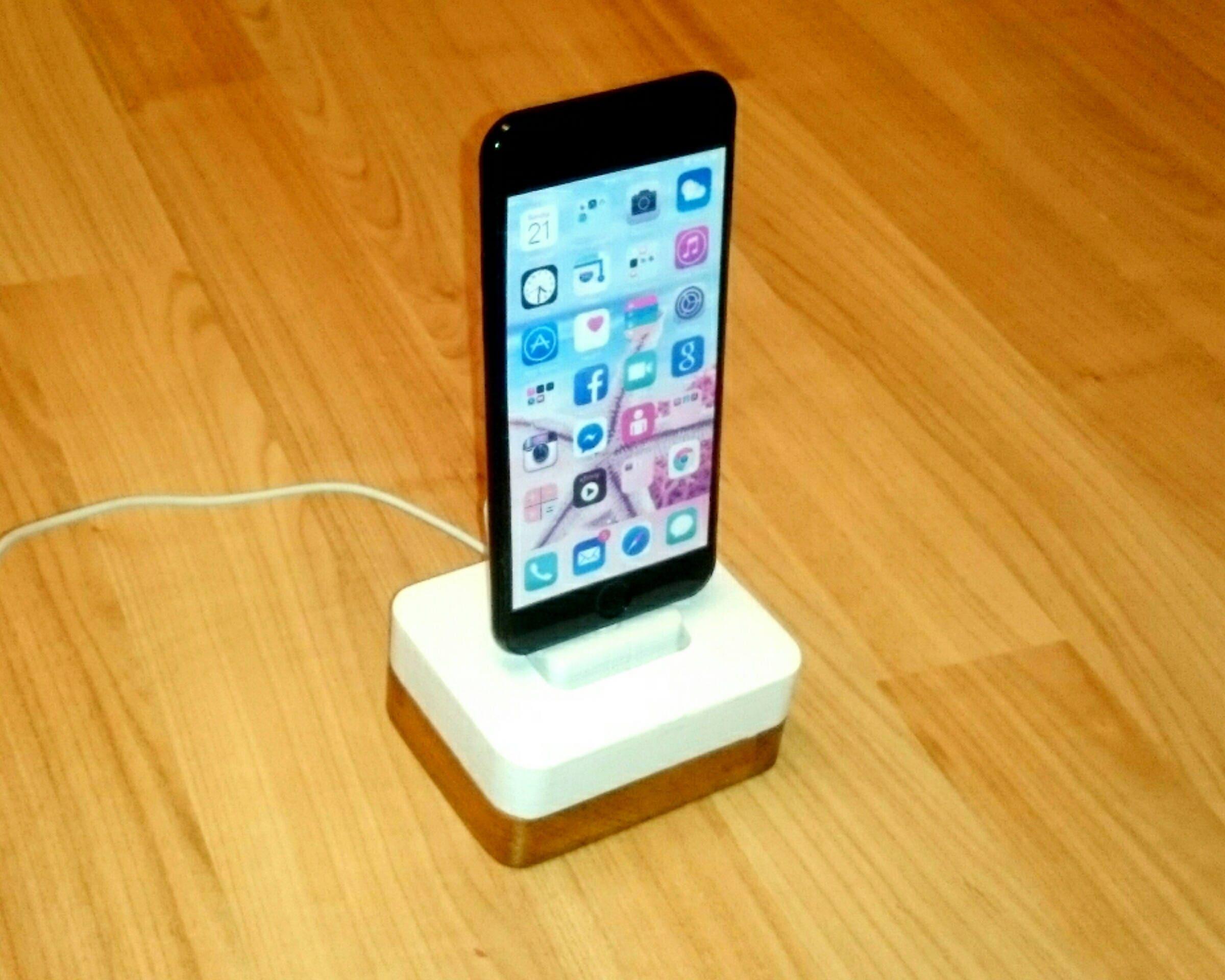iphone ladestation docking station st nder idoqq uno wei. Black Bedroom Furniture Sets. Home Design Ideas