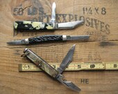 Kent, Camillus and Colonial USA 3 knife lot of 2 blade Jack Pen pocket knives