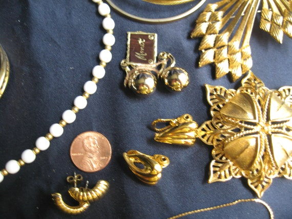 vintage lot of Monet jewelry, Mixed Monet jewelry