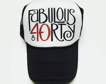 40 And Fabulous 40th Birthday Hat Custom Tucker Women Hats The Mad Hatters Co