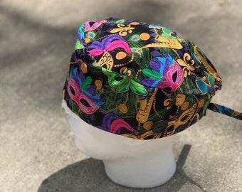 Mardi Gras scrub cap