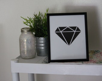 Black Diamond Print - Art Print