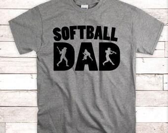 708cfeb66 Softball dad, softball coach dad, softball dad shirt, coach gifts, softball  dad tee, dad shirt, Fathers Day gift, Fathers Day Shirt