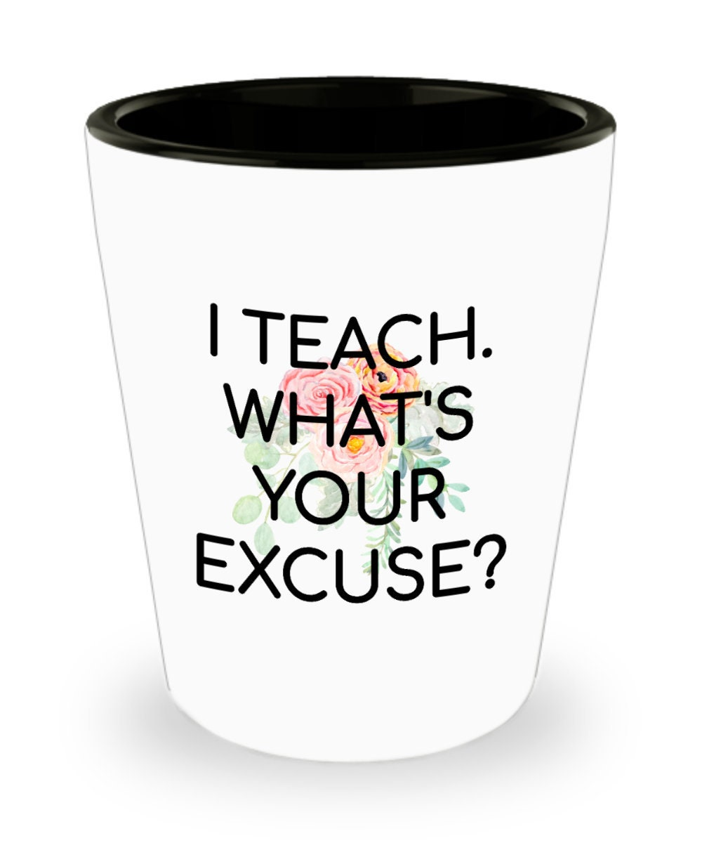 I/'m a Middle School Teacher Shot Glass Gifts for Middle School Teacher