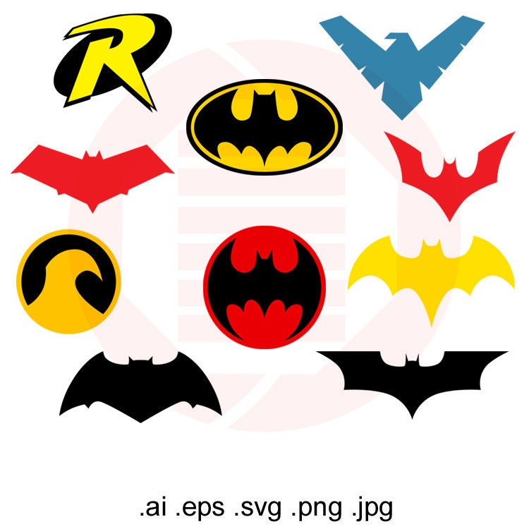 This is a graphic of Shocking Batgirl Logo Printable